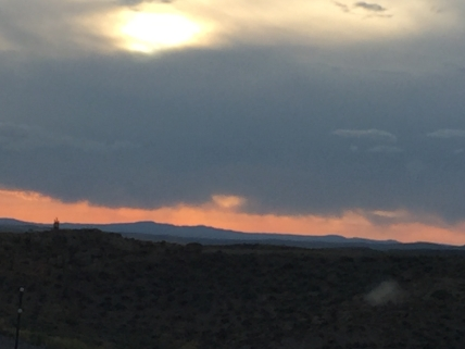 Sun through clouds 2